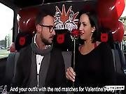 Bums Bus Raunchy Valentine S Day Bus Fuck With Alluring Brunette German Babe