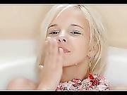 Blond Girl Fingers Herself 1