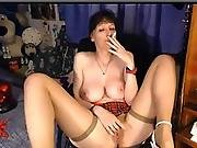 Milf Smokes On Cam And Plays With Didlo