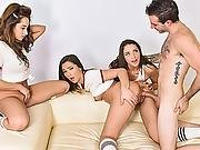 The Girls Riding And Bouncing On His Cock Nice And Good