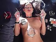 bra ,  fetish,  smoking,  topless