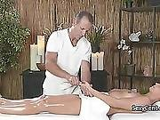 Blonde Slut Fucked On Massage Table