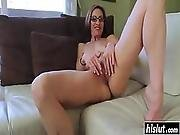 Nerdy Babe Plays Around With Her Pussy