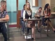 Kagney Linn Karter Horny For Italian Teacher S Cock