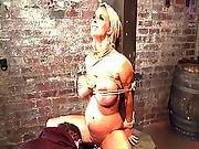 bdsm,  big tit,  blonde,  dungeon,  teasing,  torture,  toys