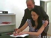 Chick Is Sucking The Teachers Cock For A Better Grade