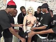 Gangbanged Slut Bukkake