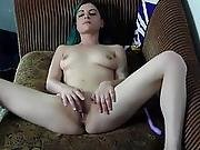 Goth Teen And That Tight Tiny Pussy