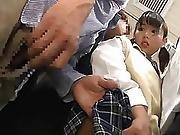 Japanese Schoolgirl Gets Train Choke Squirting