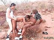 Threesome African Safari Orgy