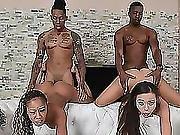 Awesome Ebony Orgy With Misty And Adriana