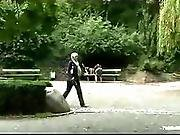 Blindfolded Bound Babe Fucked In Bench In Park