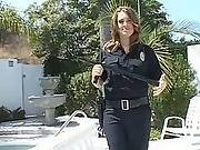 Lady cop punished with dick