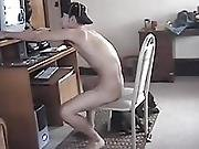 Hung Non-professional Shadow Jacking Off