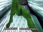 Hot Horny Amateur Teen Fingers And Masturbation In The Public Solarium
