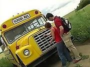 blowjob,  bus ,  redhead,  school,  school bus,  teen