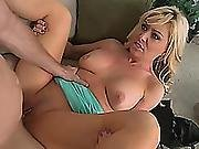 Blonde Cougar Sasha Sean Getting Fucked Hard By A Big Cocked Young Stud