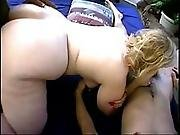 Blonde Bbw Give S Blowjobs And Get S Fucked By Two Men - Bogas
