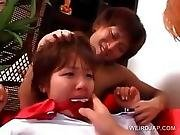 Asian Schoolgirl Gets Forced Into Sex With Her Coeds