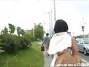 Czech Teen Perseudaded For Outdoor Public Sex