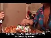 ass ,  babe,  badass,  blowjob,  brunette,  cute,  fucking,  pizza,  reality
