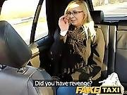 Faketaxi Taxi Driver Fucks Glasses Blonde On Backseat