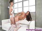 Lovely Girlfriends Tribbing And Toying