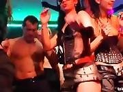 Enticing clubbers gets fucked in public