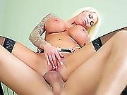 Dreamy Blond Wife Lolly Ink Impaled By Her Spouse