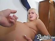 Busty Milf Assfucked While Sucking Dick In Pov Threesome