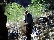 A Man Chasing The Girls In The Mountains