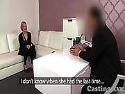 Casting Horny Blonde Fucked And Gets Creampie In Casting