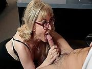 Nina Hartley Grab Her Employees Cock And Gave Him A Blowjob