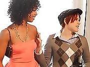 Redhead And Two Ebony