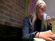 European Beata Got Laid Inside Coffee Shops Toilet