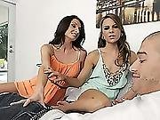 Milf Silvia Guides Teen Ally Tate To Have A Wild Threesome Sex