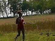Ebony Jogging Milf Forced to Fuck In the Field1