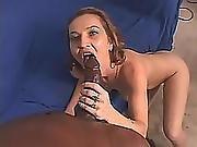Big Tits Brunette Milf Sucking Big Dong Interracial