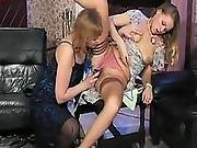 Cougar Plays With Her Teen Vixen