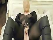 Black Bodystocking With Nylonmask