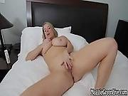 All Natural Busty Babe Maggie Green Plays With Pussy