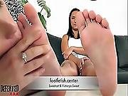 Foot And Ass Licking In Lesbian Domination