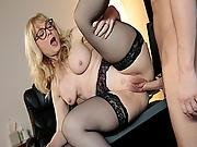 Nina Hartleys Matured Twat Getting Rail By A Thick Cock
