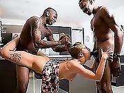 Two Big Black Dicks In A Hot Brunette