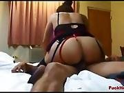 Big Butt Momma Dicked In Her Ass & Pussy & Swallows His Cum