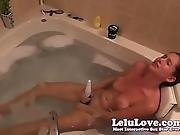 Lelu Love-vibrator Dildo Masturbation In Bathtub