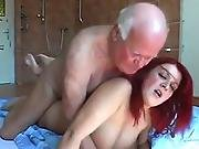 ass ,  busty,  fucking,  old ,  older man,  plumber,  redhead,  sexy