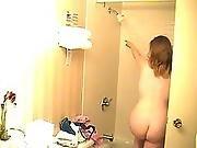 amateur,  brunette,  chubby,  chubby teen,  shower,  solo,  teen