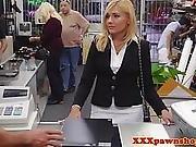 Pawnbroker Amateur Facialized At Pawnshop