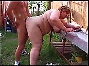 big tit,  blonde,  farm,  fat ,  granny,  hardcore,  mature,  outdoor,  pussy,  sucking,  young